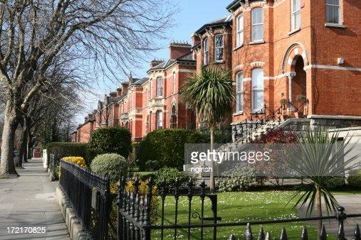 Row of houses in Ireland