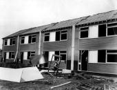 A row of LowtonCubitt houses under construction in King's Lynn East Anglia
