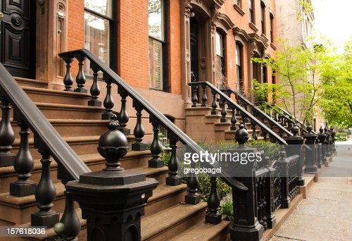 Row of Manhattan brownstones