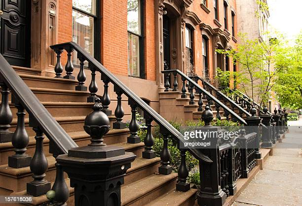 Row of Manhattan brownstones