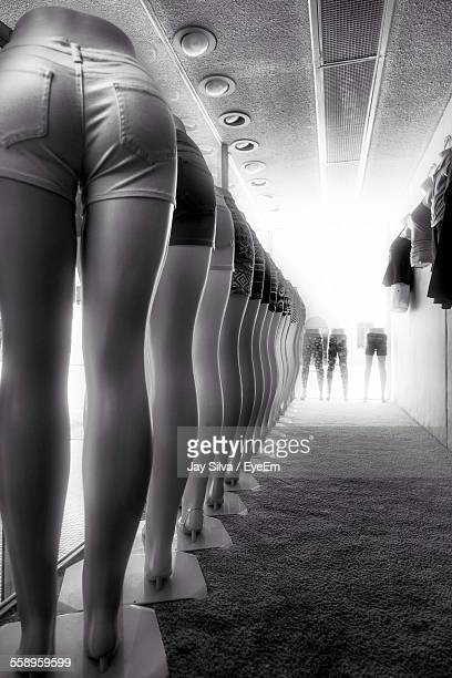 Row Of Mannequins In Shorts
