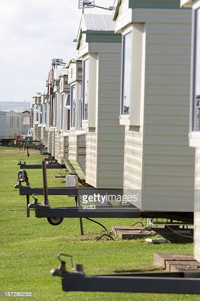 Reihe von Häusern mit hitches mobile
