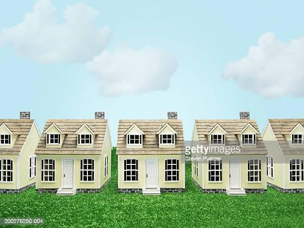 Row of model homes (Digital Composite)