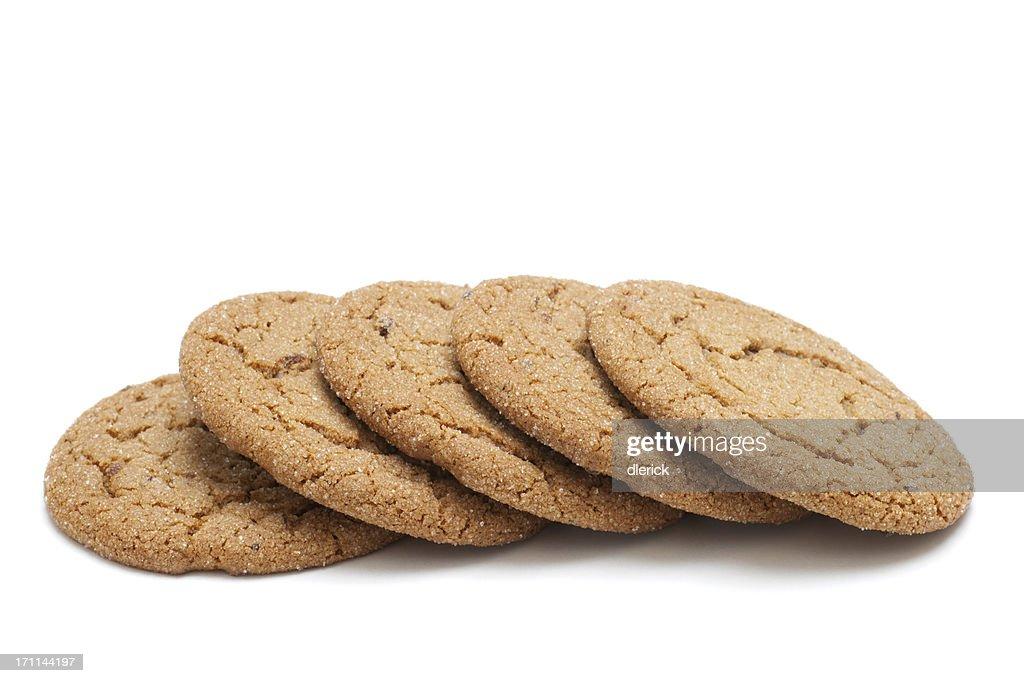 row of molasses cookies