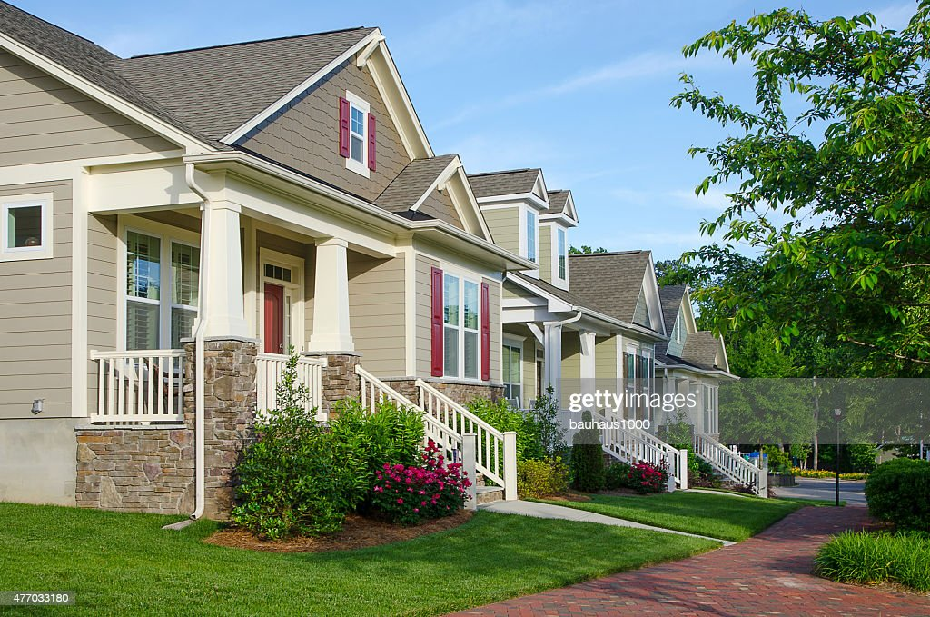 Line of houses stock photos and pictures getty images for New victorian style homes