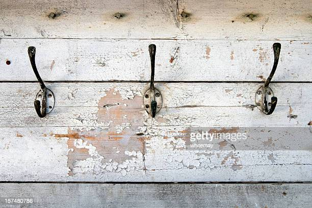 Row of old coat hooks