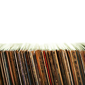 Row of old records