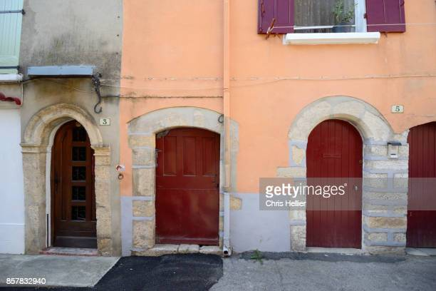 Row of Old Village Houses Annot Provence