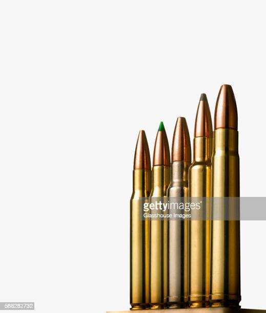 Row of Rifle Bullets