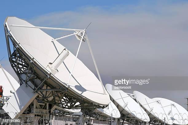 Row of Satellites