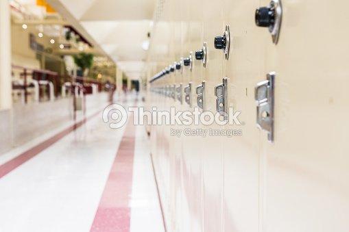 Row of school lockers : Stock Photo