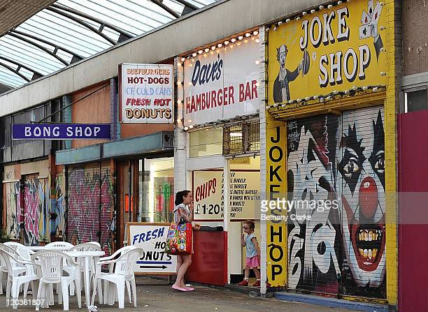 A row of shops on the seafront on August 2 2011 in Margate England The east Kent seaside town of Margate is currently undergoing regeneration work to...