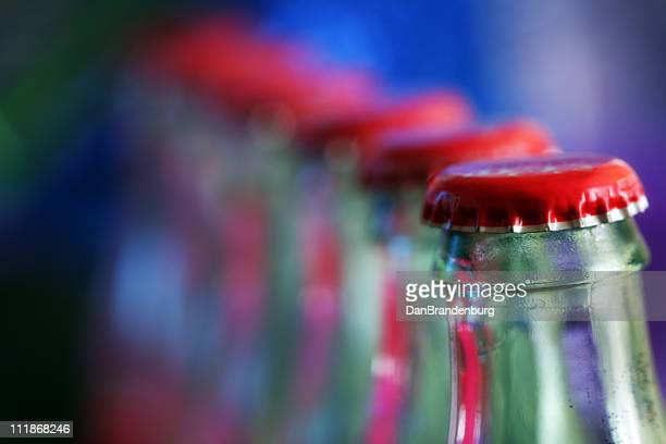 Row of Soda Bottles