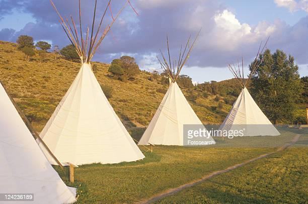 Row of teepees
