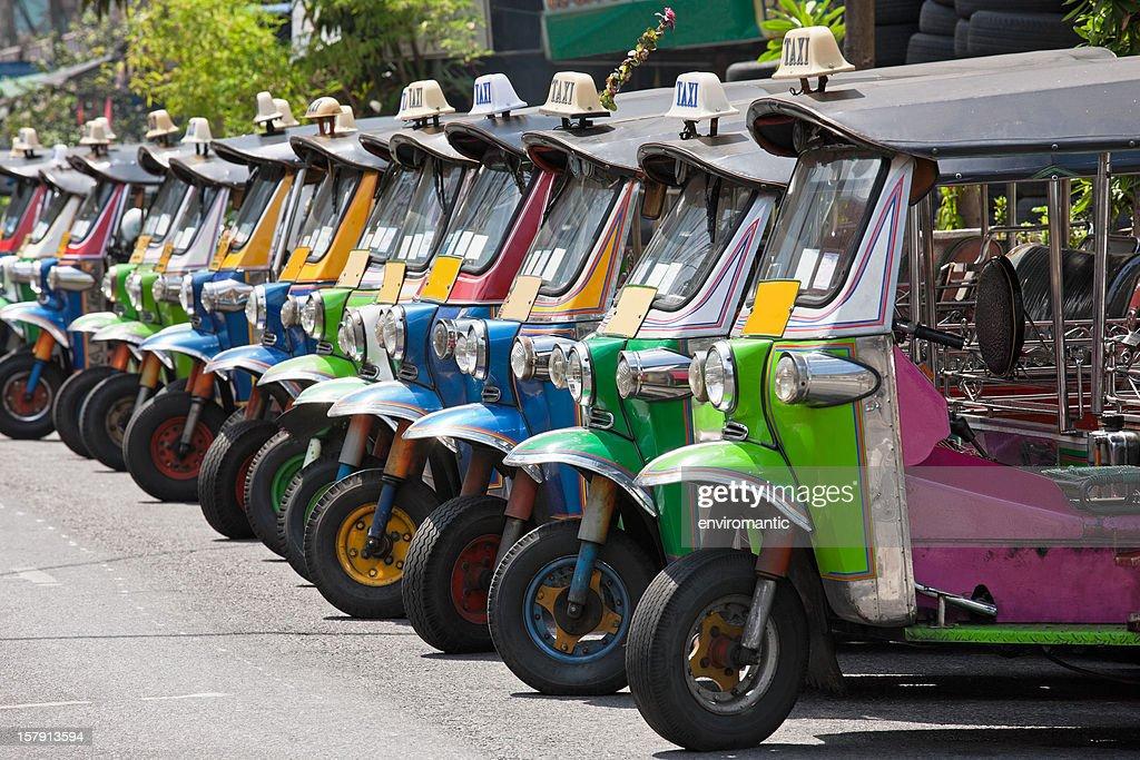 Row of Thai Tuk-tuks. : Stock Photo