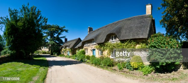 Row of Thatched Cottages