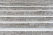 Row of the gray concrete stairs