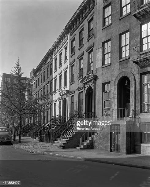 Row of Town Houses St Luke's Place and Seventh Avenue Greenwich Village New York circa 1945