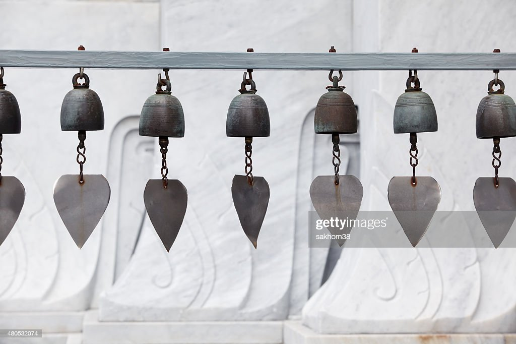 row of tradition bell : Bildbanksbilder