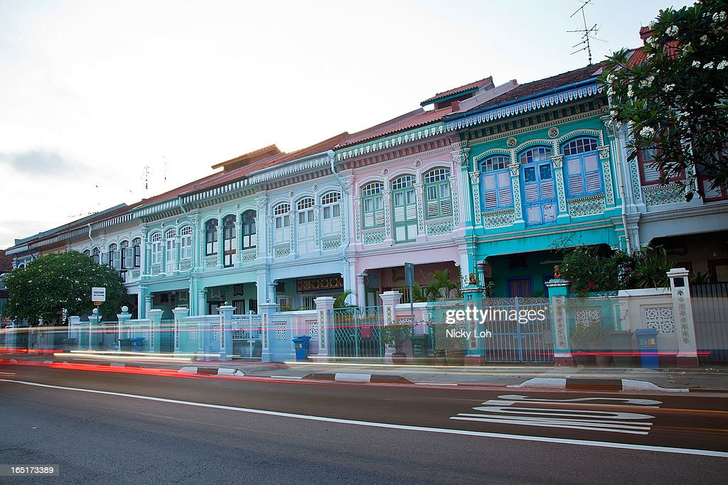 A row of traditional shophouses are seen along Koon Seng Road on April 1, 2013 in Singapore. A shophouse is a vernacular architectural building type that is commonly seen in areas such as urban Southeast Asia. Shophouses are mostly two or three stories high, with a shop on the ground floor for mercantile activity and a residence above the shop. This pre-industrial form of urban units, prevalent in 19th and early 20th century Southeast Asian towns, cities and commercial centres, literally housed everything from work to home. Today, these buildings are recognised for their significance not only as an architectural heritage but more importantly as a reflection of the island's societal history and development.