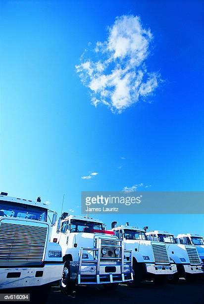 Row of Truck Tractors