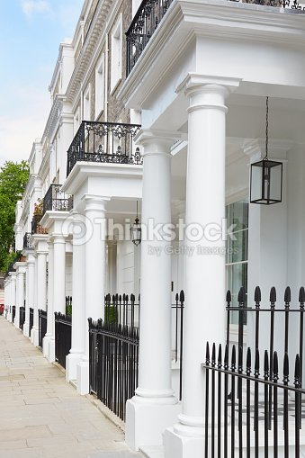 Fila di case in stile edoardiano bianco londra foto stock for Case in stile west indie