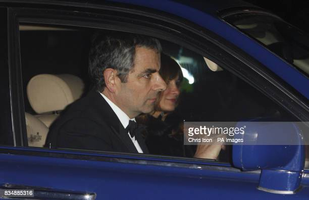 Rowan Atkinson arrives at Prince Charles's Highgrove home near Tetbury Gloucestershire where Prince Charles will be celebrating his 60th birthday...