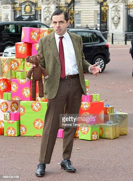 Rowan Atkinson as Mr Bean celebrates 25 years at Buckingham Palace on September 4 2015 in London England