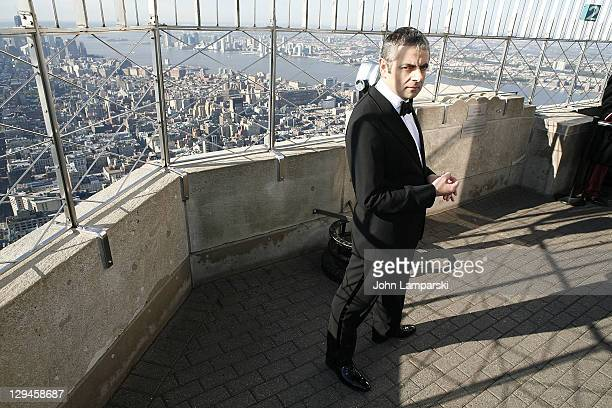 Rowan Atkinson visits The Empire State Building on October 17 2011 in New York City