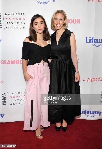 Rowan Blanchard and Marne Levine at the Women Making History Awards at The Beverly Hilton Hotel on September 16 2017 in Beverly Hills California