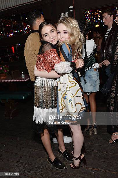 Rowan Blanchard and Sabrina Carpenter attend 14th Annual Teen Vogue Young Hollywood with American Eagle Outfitters on September 23 2016 in Malibu...