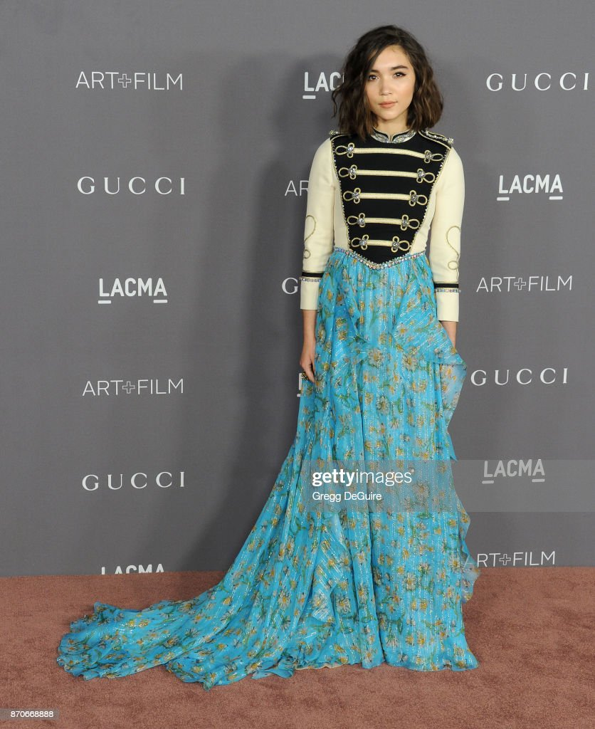 Rowan Blanchard arrives at the 2017 LACMA Art + Film Gala honoring Mark Bradford and George Lucas at LACMA on November 4, 2017 in Los Angeles, California.