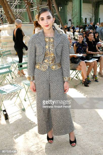Rowan Blanchard attends the Chanel Haute Couture Fall/Winter 20172018 show as part of Haute Couture Paris Fashion Week on July 4 2017 in Paris France