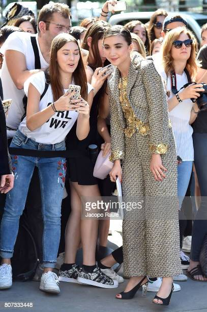 Rowan Blanchard is seen arriving at the 'Chanel' show during Paris Fashion Week Haute Couture Fall/Winter 20172018 on July 4 2017 in Paris France