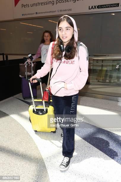 Rowan Blanchard is seen at LAX on May 08 2017 in Los Angeles California