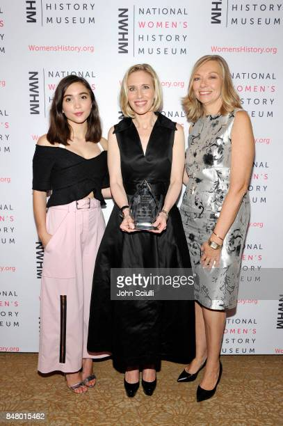 Rowan Blanchard Marne Levine and Susan Whiting at the Women Making History Awards at The Beverly Hilton Hotel on September 16 2017 in Beverly Hills...