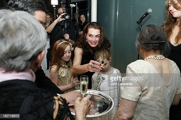Rowan Francis Henchy Brooke Shields and Grier Hammond Henchy attend the 2011 Culture Project Producer's Weekend dinner at Guastavino's on November 13...