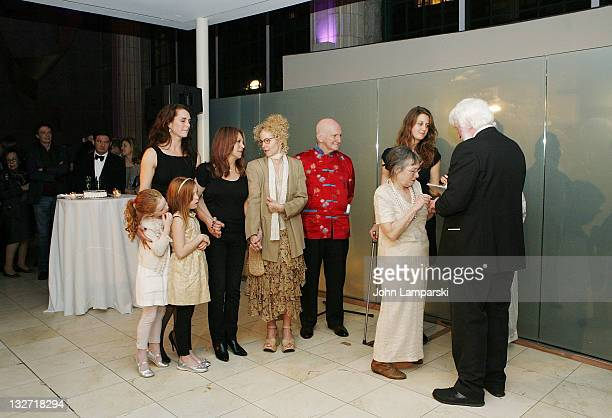 Rowan Francis Henchy Brooke Shields Greir Hammond Henchy Marlo Thomas Amy Irving Sonia Jacobs and Peter Pringle attend the 2011 Culture Project...