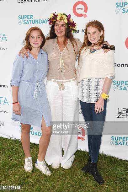 Rowan Henchy Brooke Shields and Grier Henchy attend OCRFA's 20th Annual Super Saturday to Benefit Ovarian Cancer on July 29 2017 in Watermill New York