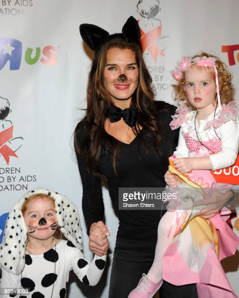 Rowan Henchy Brooke Shields and Grier Henchy attend the Children Affected by AIDS Foundation Dream Halloween at Roseland Ballroom on October 19 2008...