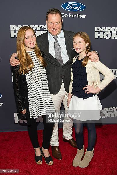 Rowan Henchy Chris Henchy and Grier Henchy attend the 'Daddy's Home' New York Premiere at AMC Lincoln Square Theater on December 13 2015 in New York...