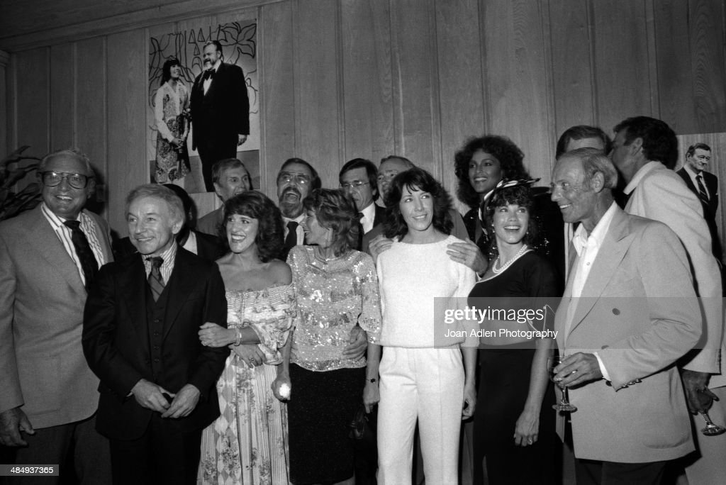 Rowan Martin's LaughIn cast reunion Back row LR Alan Sues George Schlatter Gary Owens Dick Martin Teresa Graves Front Row LR Ed Friendly Henry Gibson...