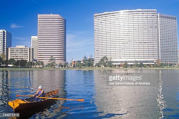 Rowboat on Lake Merritt Oakland California