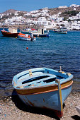 Rowboat on shingle beach