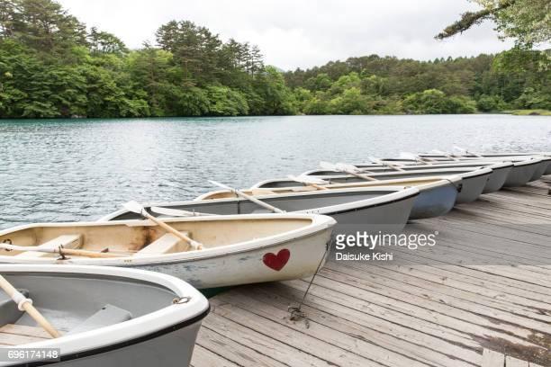 Rowboats at Goshiki-numa, Fukushima, Japan