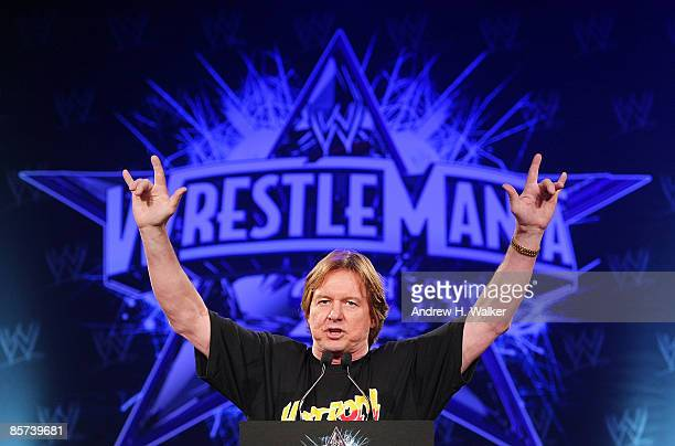 'Rowdy' Roddy Piper attends the WrestleMania 25th anniversary press conference at the Hard Rock Caf� on March 31 2009 in New York City