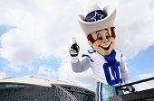 Rowdy the mascot of the Dallas Cowboys at ATT Stadium on September 7 2014 in Arlington Texas