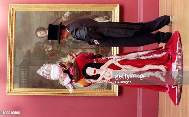 Rowena Eastwick and Cadian Nichol both 16yearsold wearing costumes they designed for the new opera HALLISINIA or MONEY TALKS based on William...