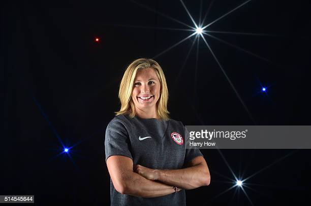 Rower Meghan Musnicki poses for a portrait at the 2016 Team USA Media Summit at The Beverly Hilton Hotel on March 9 2016 in Beverly Hills California