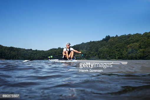 Rower on a lake